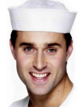 Sailor Fancy Dress US Navy Doughboy Hat - White